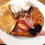 Breakfast at the Rose and Crown.