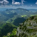 Walking in the foothills of the Julian Alps