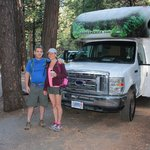At our campsite ready to explore the day before Half Dome hike.