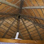 Thatched roof of chalet