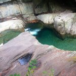 Beautiful swimming hole with crystal clear water