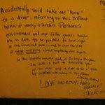Mi mensaje en el muro de Puriwasi: Fue mi segunda casa