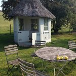 Summerhouse in the garden
