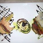 Foie gras / St JAcques / Tian de légumes