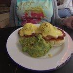 Eggs Benedict with extra Avocado