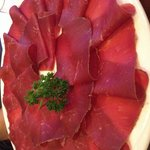 The amazing Bunderfleisch, which is served as an appetizer to the Fondue