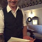 Waiter with Rock Fish