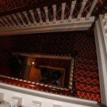 Through the staircase