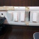 damaged switch board