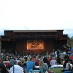 The stage and meadow seating area
