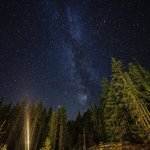 Milky way view from your full hookup whistler camping site