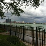 Beautiful view of the river and Detroit skyline