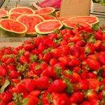 rouge des fraises et du pasteques