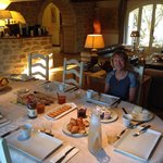 The dining room at Le Moulin Vieux