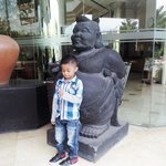 my son feel happy when the first day check in.