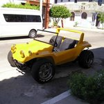 Yellow dune buggy