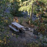 Sitting and Picnic area on the river