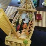 Sashimi and rolls set