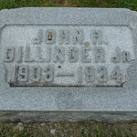 John Dillinger's headstone.  Notice the bullet shell in the