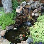 Courtyard waterfall pond