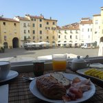 Morning view of the piazza while eating delicious breakfast by Livia