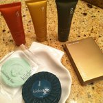 Kudos Spa soaps, lotions and shower cap, complimentary