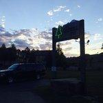 Inn sign with sky