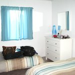 Larger bedroom - twin bed & dresser