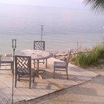 Evening dining spot on the beach