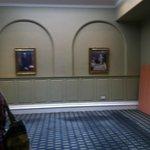 corridor for the elevators