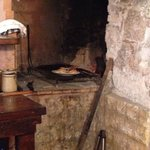 The barbecue inside where bistecca was cooked