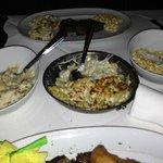 mastros mashed, mac&cheese, and cream corn