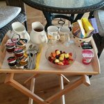 Breakfast in our suite