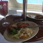 Wonderful grilled lobster lunch