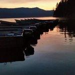 Docks on Diamond Lake