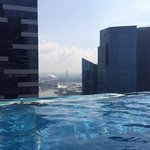 view from the infiniti pool on level 35