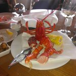 Opps..forgot to take pic before having some lobster..