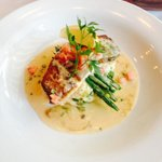 Special Saturday night:))) Halibut with lobsta mashed ;)))) yummy