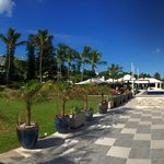 Restaurants and Walkway above Beach