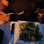 une salade verte a 3,50e,ca fait cher la salade!