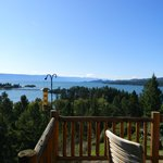 View of Flathead Lake from deck