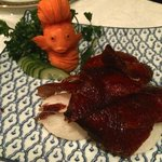 Gorgeous, exquisite and delicious! Check out the carved carrot fish