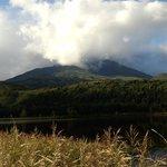 利尻富士の山頂が見えないのが残念。