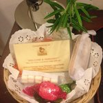 Complimentary basket of local sweets