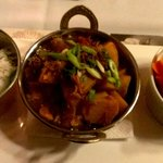 The vegetarian curry