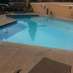 Small pool, very close to busy road