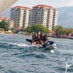 Banana boat ride at Pier water sports! Highly recommended for the whole family water sport fun!