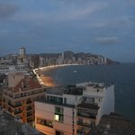 View to Levante beach from room top terrace