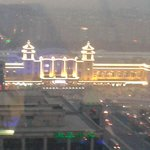 View from the revolving restaurant/bar of Beijing station