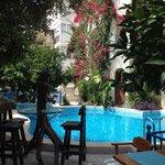Pool seen from breakfast area..